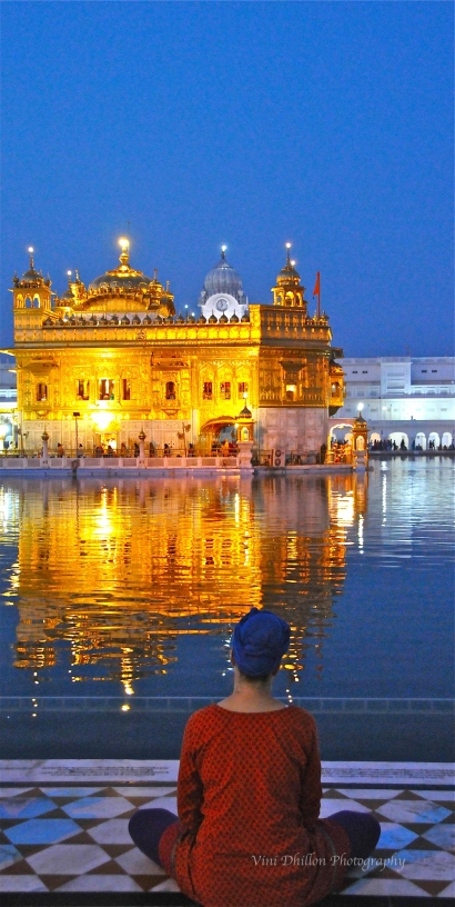 Meditating at the Golden Temple, Amritsar